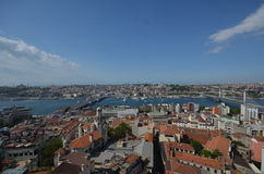 View over Istanbul from Galata tower, Turkey Stock Photos