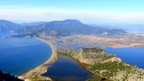 Free View Over Iztuzu Beach And Dalyan River Delta In Turkey. Stock Photo - 134382460