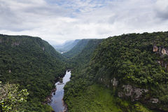 View over Kaieteur waterfall valley Royalty Free Stock Photography