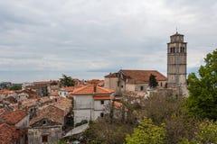 A view over Kastav old village, Istria. Croatia royalty free stock photos
