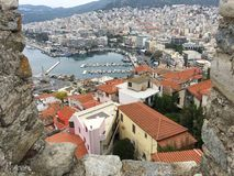View over Kavala Greece stock images