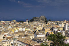 View over Kerkira, Corfu. View from new fortress over the city of Kerkira on the island of  Corfu Royalty Free Stock Photo