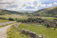 View over Kettlewell, Yorkshire royalty free stock photo