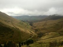 View over Kinder Edale. From Jacob's Ladder Royalty Free Stock Images