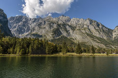 View over koenigssee to Watzmann mountain chain Royalty Free Stock Photography