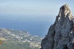 View over Koreiz from Ai-Petri Mountain. View over Koreiz and cliff from Ai-Petri Mountain. Crimea. Ukraine Stock Images