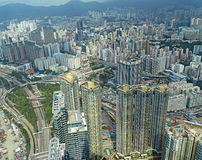 View over Kowloon in Hong Kong Stock Photos
