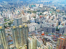 View over Kowloon in Hong Kong Royalty Free Stock Photo