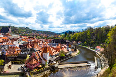 View over Krumlov in Bohemia Stock Photo