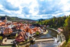 View over Krumlov in Bohemia Stock Photo