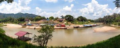 View over Kuala Tahan at the Taman Negara national park Royalty Free Stock Photography