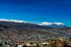 View over La Paz Bolivia stock image