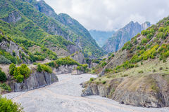 View over Lahich river bed torrent Stock Images