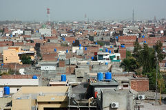 View over Lahore, big city in Pakistan Stock Photography