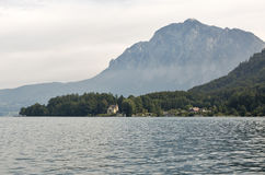 View over lake Attersee in Austrian Alps Stock Images
