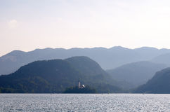 View over the lake Bled, Slovenia Royalty Free Stock Photos