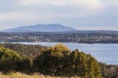 View over the lake Coila towards Tuross Head. Bingie. Australia Stock Photography
