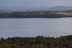 View over the lake Coila towards Tuross Head. Bingie. Nsw. Austr Royalty Free Stock Images