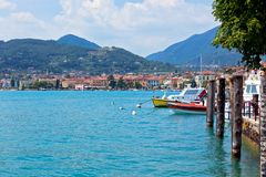 View Over Lake Garda and Salo town Royalty Free Stock Image
