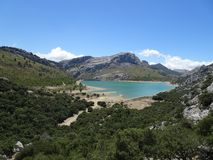 View over the Lake Gorg Blau, Mallorca, Ballears stock image
