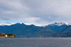 View over Lake Maggiore and Alps mountains Stock Photos