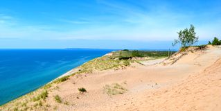 Sand dunes at Lake Michigan Royalty Free Stock Photos