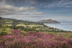View over Lamlash & Holy Isle on the Isle of Arran. Royalty Free Stock Photo