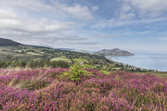 View over Lamlash & Holy Isle on the Isle of Arran. Royalty Free Stock Image