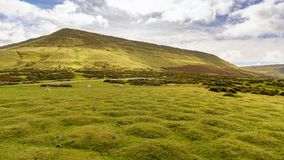 Landscape near Hay Bluff, Wales, UK. View over the landscape of the Brecon Beacons National Park with Hay Bluff, seen from the car park near Gospel Pass, Powys Royalty Free Stock Photo