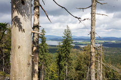 View over a landscape in the Czech Republic. Royalty Free Stock Photography