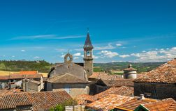 View over Lautrec village. Rooftops, France Royalty Free Stock Photography