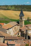 View over Lautrec village. Rooftops, France Stock Photography