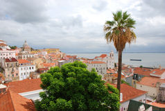View over Lisbon. View over cloudy Lisbon, Portugal stock images
