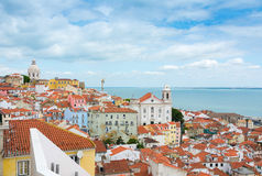 View over Lisbon Alfama district Royalty Free Stock Image