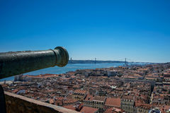 View over Lisbon royalty free stock images
