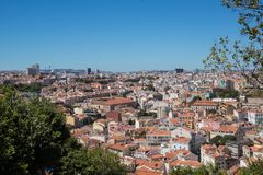 View over lisbon city. Road trip through Portugal from Lisbon to Sintra view over lisbon city royalty free stock photography