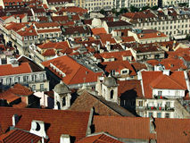 View over Lisbon, Portugal. View over the red roofs of the old town of Lisbon Royalty Free Stock Photos