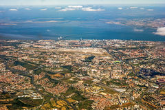 View over Lisbon stock photography