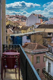 View over lisbon's roofs. View from a balcony in lisbon Royalty Free Stock Images