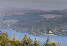 View over Loch Awe in West Argyll, Scotland. Royalty Free Stock Photo
