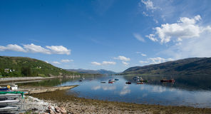 View over Loch Broom. Royalty Free Stock Photography