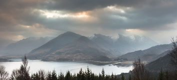 View over Loch Duich Stock Photography