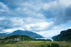 View over loch maree in northern scotland Stock Image