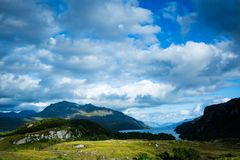 View over loch maree in northern scotland Royalty Free Stock Images