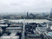 The view over London is charming royalty free stock image