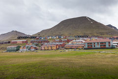 View over Longyearbyen, Svalbard, Norway Royalty Free Stock Photo