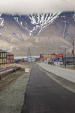 View over Longyearbyen, Svalbard, Norway Royalty Free Stock Image