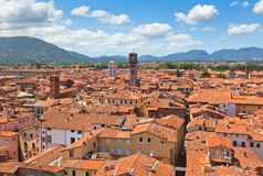 View over Lucca, Tuscany town Stock Image