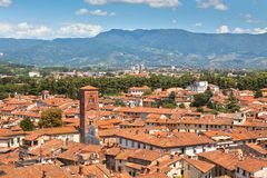 View over Lucca, Tuscany town Stock Photography