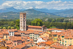 View over Lucca, Tuscany town Stock Images